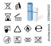 collection of 12 symbols... | Shutterstock .eps vector #355864310