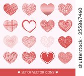 different abstract heart icons... | Shutterstock .eps vector #355867460