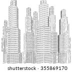 abstract city buildings | Shutterstock . vector #355869170