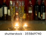 candle light and inlaid with... | Shutterstock . vector #355869740