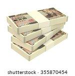japanese yen money isolated on... | Shutterstock . vector #355870454