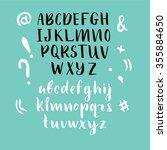 hand drawn alphabet. font   Shutterstock .eps vector #355884650