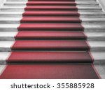 red carpet on a stairway used... | Shutterstock . vector #355885928