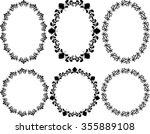 set of floral frames   design... | Shutterstock .eps vector #355889108
