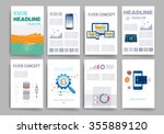 brochure design template set.... | Shutterstock .eps vector #355889120