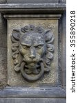 Old Stone Sculpture Of A Lion'...