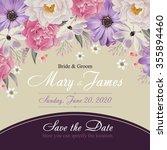 flower wedding invitation card  ...   Shutterstock .eps vector #355894460