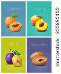 set of polygonal fruit  ...   Shutterstock .eps vector #355895150