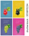polygonal berries. vector... | Shutterstock .eps vector #355895234