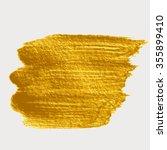 gold brush strokes for the... | Shutterstock .eps vector #355899410