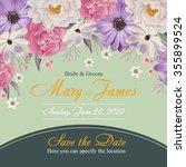 flower wedding invitation card  ...   Shutterstock .eps vector #355899524