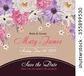 flower wedding invitation card  ... | Shutterstock .eps vector #355899530