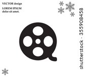 film reel icon  | Shutterstock .eps vector #355908458