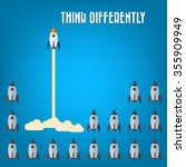 think differently   being... | Shutterstock .eps vector #355909949