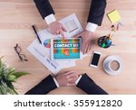 business team concept   contact ... | Shutterstock . vector #355912820