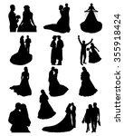 bride and groom wedding... | Shutterstock .eps vector #355918424