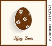easter chocolate egg. easter... | Shutterstock .eps vector #355927829