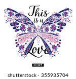 Chic Butterfly Graphic For T...