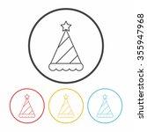 birthday hat line icon | Shutterstock .eps vector #355947968