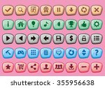 complete set of game interface... | Shutterstock .eps vector #355956638