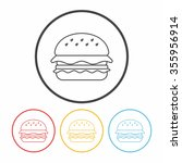 hamburger line icon | Shutterstock .eps vector #355956914