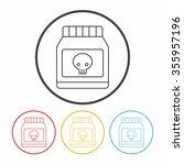 poison line icon | Shutterstock .eps vector #355957196
