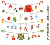 christmas clothes line icon | Shutterstock .eps vector #355962584