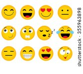 Emoticon. Vector Style Smile...