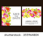 invitation with floral... | Shutterstock .eps vector #355964804