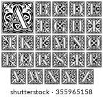 elegant letter alphabet  ... | Shutterstock .eps vector #355965158