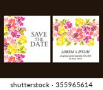 invitation with floral... | Shutterstock .eps vector #355965614