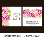 invitation with floral... | Shutterstock .eps vector #355966160