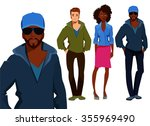 illustration of young people... | Shutterstock .eps vector #355969490