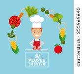 people cooking design  vector... | Shutterstock .eps vector #355969640