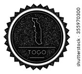 togo map label with retro... | Shutterstock .eps vector #355970300