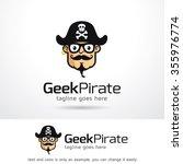 geek pirate logo template... | Shutterstock .eps vector #355976774