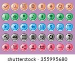 game interface buttons set  app ... | Shutterstock .eps vector #355995680