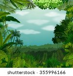 tropical background beautiful... | Shutterstock . vector #355996166