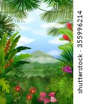 mountains landscape of tropical ... | Shutterstock .eps vector #355996214