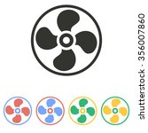fan  icon  on white background. ... | Shutterstock .eps vector #356007860