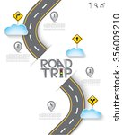 road   street with map pointer... | Shutterstock .eps vector #356009210