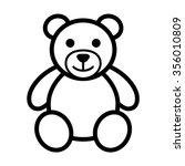 Teddy Bear Plush Toy Line Art...