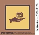 hand holding a calendar sign | Shutterstock .eps vector #356017280