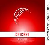 cricket white red freehand... | Shutterstock .eps vector #356022854