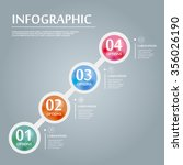 elegant infographic design with ... | Shutterstock .eps vector #356026190