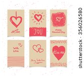 set of valentines cards | Shutterstock .eps vector #356026580