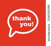 the thank you  icon. thanks... | Shutterstock .eps vector #356030390