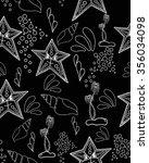 seamless pattern. marine... | Shutterstock .eps vector #356034098