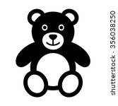 Teddy Bear Plush Toy Flat Icon...