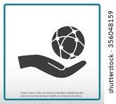 global technology or social...   Shutterstock .eps vector #356048159